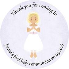 24 personnalisé confirmation, communion, baptême, autocollants, scellés, étiquettes, brillant