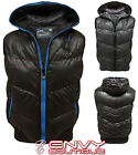 BRAVE SOUL MENS PADDED ZIP BLACK CHARCOAL GILET BODYWARMER JACKET SIZE S-XL