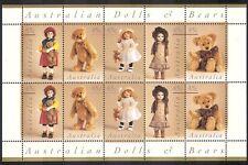 Australia 1997 Teddy Bears/Teddies/Dolls/Toys 10v sht ref:b5111