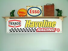 Texaco Havoline racing - workshop or garage advertising banner, sign etc