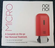 New No!No! NONO Micro Hair Removal Device for Face and Body in Red