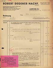 LEIPZIG, Rechnung 1938, Robert Degener Nachf., hier: Leinöl-Firnis
