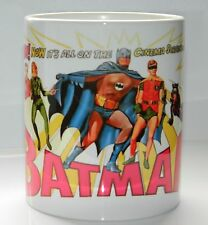BATMAN : 1960's UK CINEMA RETRO DESIGN  ARTWORK. TOP QUALITY 11oz MUG