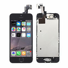 For iPhone 5S LCD Touch Digitizer Screen Assembly / Home Button / Camera Black