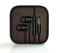 BNIB BLACK METAL NOISE ISOLATING EARPHONES HEADSET WITH REMOTE+MIC+BRAIDED+BUDS