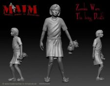 Zombie-little girl/échelle 1:35 3D imprimé figure kit d'estropier