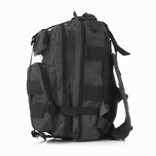 25L Hiking Camping Pack Bag Army Military Tactical Rucksack Backpack Black