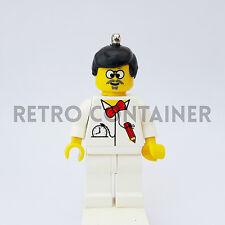 LEGO Minifigures - 1x tim003 - Dr. Cyber - Time Cr. Omino Keychain Portachiavi