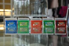 Pokemon Gameboy Games Bundle Fire Red, Leaf Green, Emerald, Sapphire And Ruby
