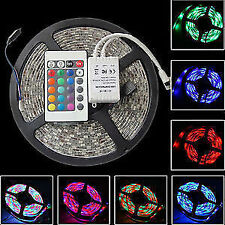 RGB WATER PROOF LED STRIP LIGHT MULTICOLOR 5 M WITH IR CONTROL,REMOTE,ADAPTOR