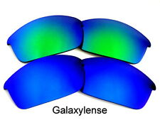 Galaxy Replacement Lenses For Oakley Flak Jacket Blue&Green 100% UVAB 2 Pairs