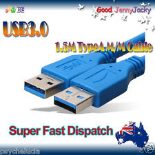 1.5M USB 3.0 Type A Male to Male Extension High Speed HDD Cable Cord