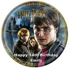"""Harry Potter Personalised Cake Topper 7.5"""" Edible Wafer Paper Birthday Party"""