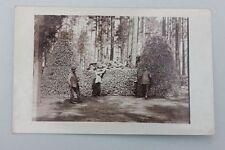 Militärisches Brennholzlager, Rußland, Fotokarte 1.WK