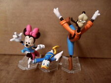 Disney T-Arts Japan Rush Life! Figure Lot Minnie Mouse Goofy Donald Duck Takara