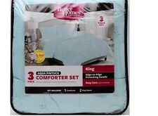 KING SIZE!! Better Homes and Gardens, Aqua Pintuck Bedding Comforter Mini Set