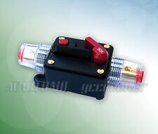 80A Car Audio Inline Circuit Breaker Fuse for 12V System Protection
