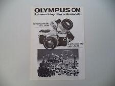 advertising Pubblicità 1978 OLYMPUS OM 1 e 2