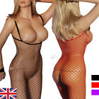 CLEARANCE SALE 22B crotchless bodystockings large hole BLACK RED PURPLE S/M 6-14