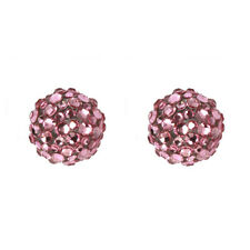New Tarina Tarantino Gumball Pucker Swarovski Light Pink Earrings