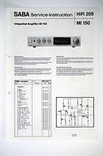 SABA MI 150 Original Amplifier Service-Instruction/Anleitung/Schaltplan o52