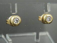 Ohrstecker in 585/14K Gelbgold 2 Brillanten ca. 0,14ct. W / SI