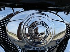 Harley OEM Willie G Skull Chrome Air Cleaner Cover  insert FLH FXST FLST FXD