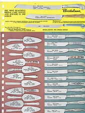 VINTAGE AD SHEET #3180 - BRIDALANE CAKE KNIVES