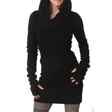 Women Lady Hooded Hoodie Dress Winter Autumn Long Sleeve Pullover Sweatshirt Lot