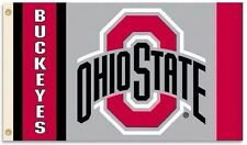 NEW The Ohio State University Buckeyes Flag 3'x5' Red & Gray OSU Large Outdoor B
