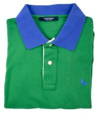 New GRAN SASSO Italy Green Blue Cotton Polo Golf Shirt 50 M S NWT $150!