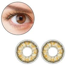 2pcs Contact Lenses Fresh Color Soft Big Eye Protection Cosmetic Lens Brown DC