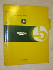 1979 JOHN DEERE 40 ROTARY TILLER (for 850,950 TRACTORS) TECHNICAL SERVICE MANUAL
