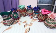 Best Deal Indian Handmade 200 pc Wholesale Lot Wedding Favor Gift Christmas Bags