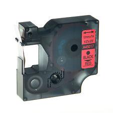 1PC Schriftband Kasette für DYMO D1 45017 12mm 7m Schwarz auf Rot LM 100 120P