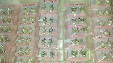 Joblot of 60 Pairs Mixed Small Hoop Pearl Diamante Earrings - NEW Wholesale