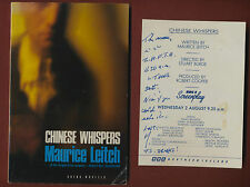 Chinese Whispers. Maurice Leitch. Signed. + flyer A3.475