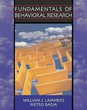 Fundamentals of Behavioral Research (with InfoTrac )
