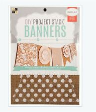 "DCWV 6"" x 8"" DIY Project Stack BANNERS - BURLAP  Multi-Stack  ~ PS-009-00012"