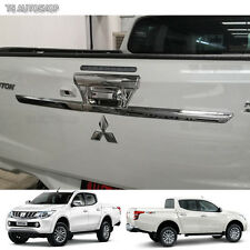 Chrome Rear Tailgate Accent Cover Fit Mitsubishi L200 Triton Truck Xlt 2015 2016