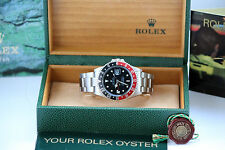 ROLEX GMT MASTER II FAT LADY 16760 RARE VINTAGE BOX & PAPER!!