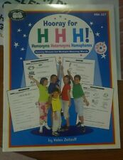 Super Duper Publications BK-327 Hooray for H H H Activity Sheets & CD-ROM New