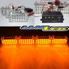 4 x 22 Amber Yellow LED Vehicle Emergency Warning Car Flash Strobe Light