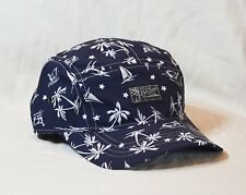 Polo Ralph Lauren Swim Cap Beach Palm Sailboat Nylon 5-Panel Hat NWT