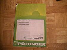Original Zusammenbauanleitung zum Pöttinger CAT 170 Economy Mähwerk