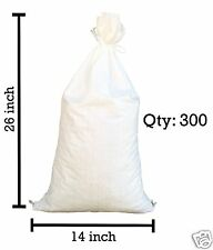 Sandbaggy 300 White Empty Sandbags For Sale 14x26 Sandbag Sand Bags Bag Poly
