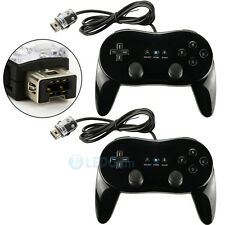 2x NEW Classic Controller Pro For Nintendo Wii Remote BLACK US Ship