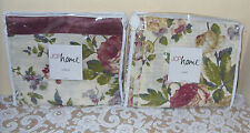 """JCPenny Home Antique Rose Drape/Panel Pair 84""""+Valance"""