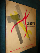 1960 DeSOTO SHOP MANUAL / NICE ORIGINAL BASE BOOK FOR THE 1961 SUPPLEMENT