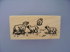 100 PROOF PRESS RUBBER STAMPS SHEEP GRAZING STAMP